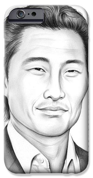 Daniel Dae Kim IPhone Case by Greg Joens