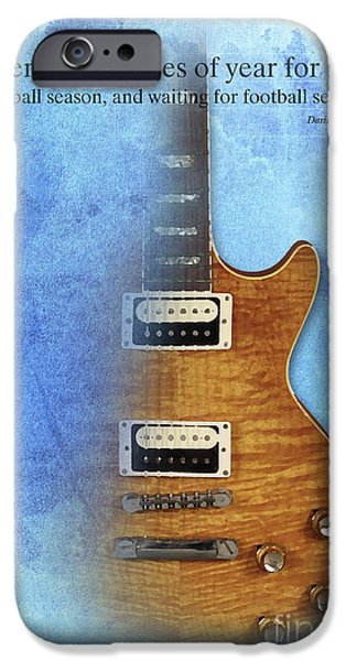 Darius Rucker Inspirational Quote, Electric Guitar Poster For Music Lovers And Musicians IPhone 6s Case by Pablo Franchi