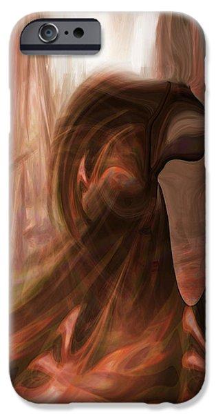 Dark Angel IPhone Case by Linda Sannuti