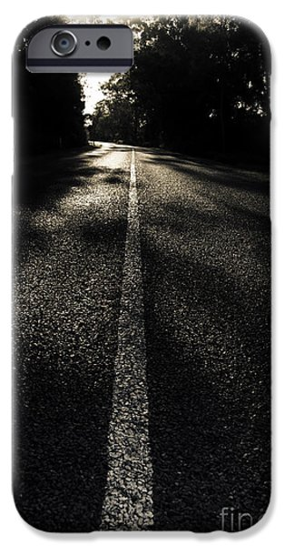 Dark Road Of Shadows IPhone Case by Jorgo Photography - Wall Art Gallery