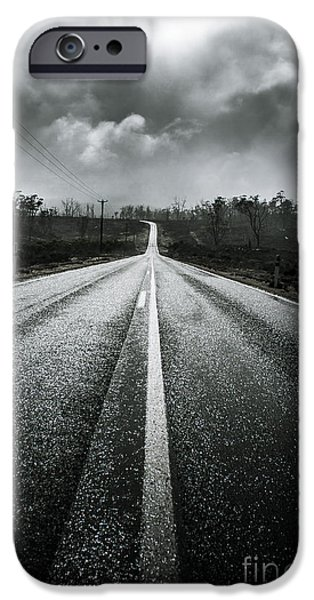 Dark Stormy Road To Cradle Mountain In Tasmania IPhone Case by Jorgo Photography - Wall Art Gallery
