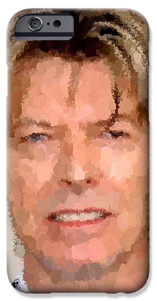 David Bowie Portrait IPhone Case by Samuel Majcen