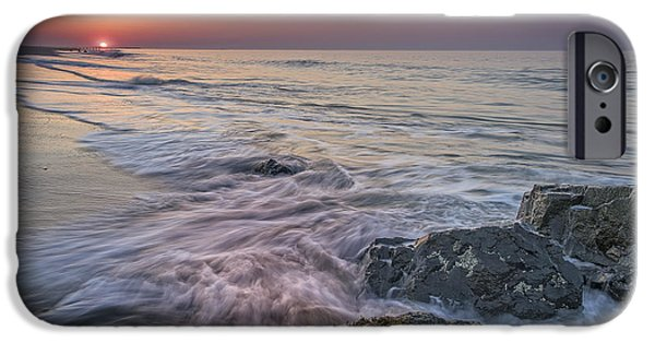 Dawn Breaks At Cape May IPhone Case by Rick Berk