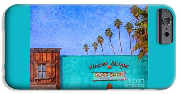Day At The Surf Shop IPhone Case by David Millenheft