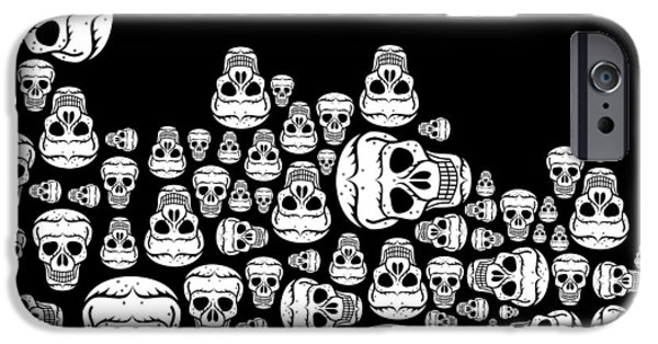 Day Of The Dead IPhone Case by Mark Ashkenazi