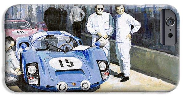 Daytona 1966 Porsche 906 Herrmann-linge IPhone Case by Yuriy  Shevchuk