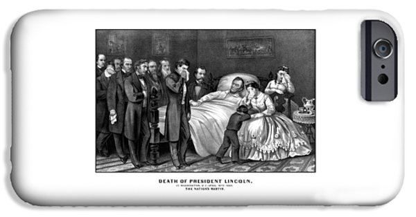 Death Of President Lincoln IPhone Case by War Is Hell Store