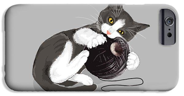 Death Star Kitty IPhone Case by Olga Shvartsur