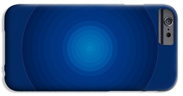 Deep Blue Circles IPhone Case by Frank Tschakert