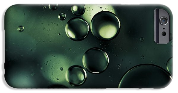 Deep Sapphire Blue And Emerald Green Macro Water Droplets IPhone Case by Sharon Mau