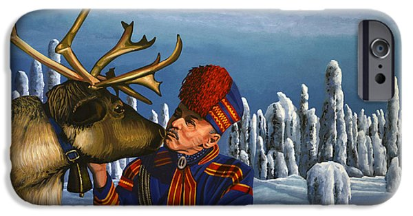 Deer Friends Of Finland IPhone Case by Paul Meijering