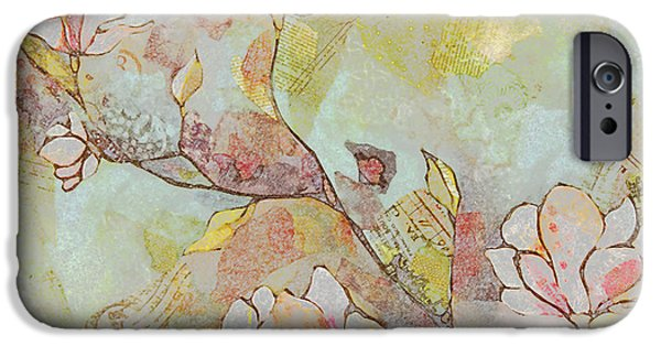 Delicate Magnolias IPhone Case by Shadia Zayed