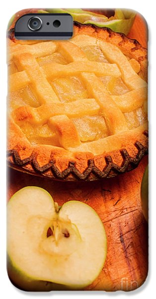 Delicious Apple Pie With Fresh Apples On Table IPhone Case by Jorgo Photography - Wall Art Gallery