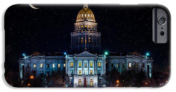 Denver Capital Nights IPhone Case by Darren White