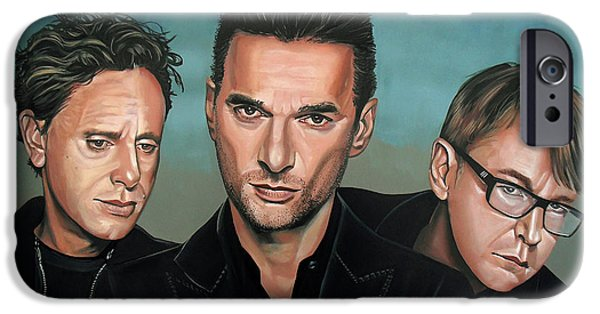 Depeche Mode Painting IPhone Case by Paul Meijering