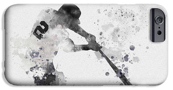 Derek Jeter IPhone Case by Rebecca Jenkins