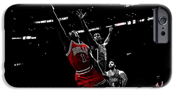 Derrick Rose Finger Roll IPhone Case by Brian Reaves