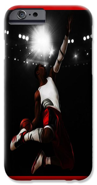 Derrick Rose I Rise IPhone Case by Brian Reaves