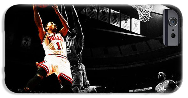 Derrick Rose The Raging Bull IPhone Case by Brian Reaves