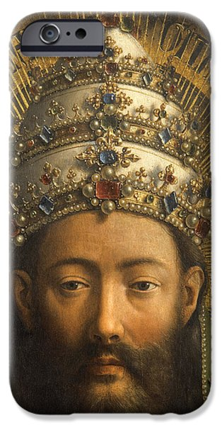 Detail Of God The Father IPhone Case by Van Eyck