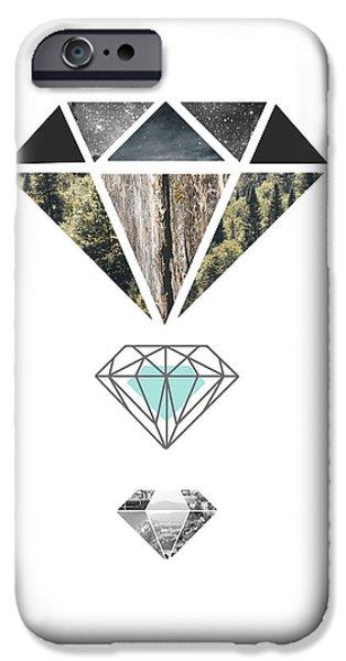 Diamond Art Print IPhone Case by Manuela Pugliese