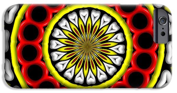 Digital Art Kaleidoscope 1 IPhone Case by Rose Santuci-Sofranko