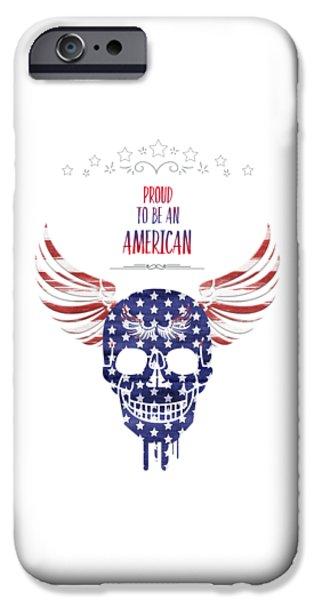 Digital-art Patriotism IPhone Case by Melanie Viola