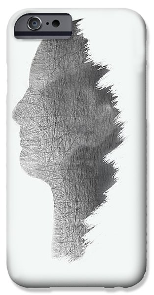 Digital Structure In White IPhone Case by Art Spectrum