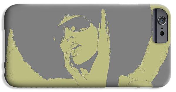 Disco Green IPhone Case by Naxart Studio