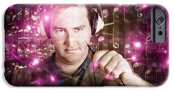 Disconnected Male Dj Holding Unplugged Audio Jack IPhone Case by Jorgo Photography - Wall Art Gallery