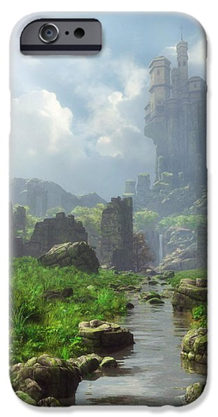 Distant Castle IPhone Case by Cynthia Decker