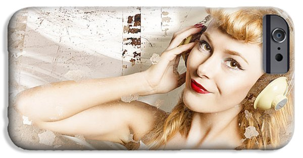 Dj Glamour Pin-up IPhone Case by Jorgo Photography - Wall Art Gallery