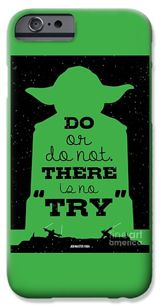 Do Or Do Not There Is No Try. - Yoda Movie Minimalist Quotes Poster IPhone Case by Lab No 4 The Quotography Department