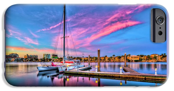 Docked At Twilight IPhone Case by Marvin Spates