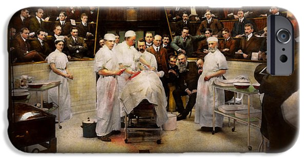 Doctor - Surgeon - Standing Room Only 1902 IPhone Case by Mike Savad