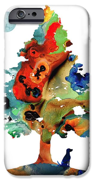 Dog Art - Contemplation 2 - By Sharon Cummings  IPhone Case by Sharon Cummings