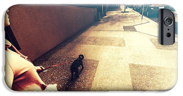 Dog Assisting Blind Woman On Urban Street IPhone Case by Jorgo Photography - Wall Art Gallery