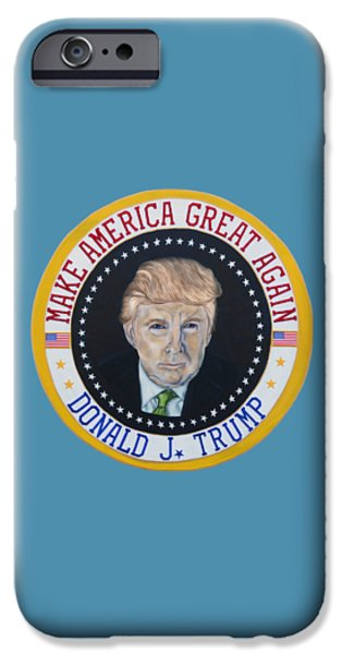 Donald J. Trump IPhone Case by Heather Wilkerson