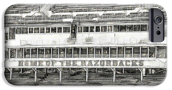 Donald W. Reynolds Razorback Stadium IPhone 6s Case by JC Findley