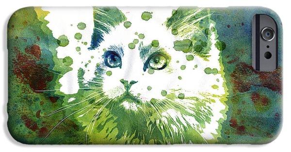 Dotted Cat IPhone Case by Jutta Maria Pusl