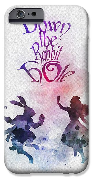 Down The Rabbit Hole IPhone Case by Rebecca Jenkins