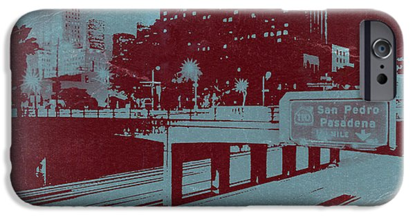 Downtown La IPhone Case by Naxart Studio
