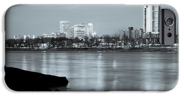 Downtown Tulsa Oklahoma - University Tower View - Black And White IPhone 6s Case by Gregory Ballos