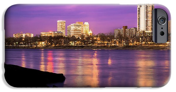 Downtown Tulsa Oklahoma - University Tower View - Purple Skies IPhone 6s Case by Gregory Ballos