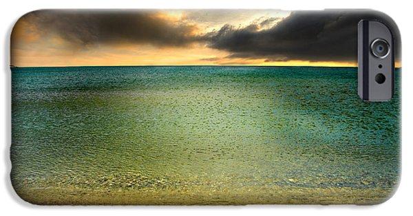 Drama At The Beach IPhone Case by Meirion Matthias