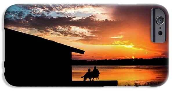 Dramatic Sunset On The Lake IPhone Case by Shelby  Young