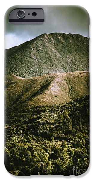 Dramatic View On Mount Zeehan Against Stormy Cloud IPhone Case by Jorgo Photography - Wall Art Gallery