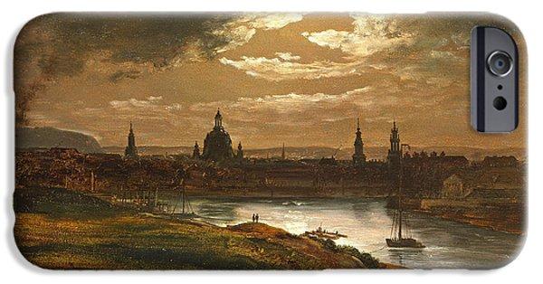 Dresden By Moonlight IPhone Case by Johan Christian Dahl
