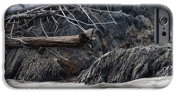 Driftwood On The Rocks IPhone Case by Tim Beebe
