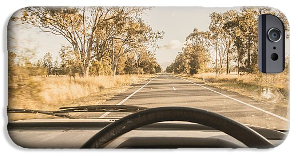 Driving On Rural Australian Road IPhone Case by Jorgo Photography - Wall Art Gallery